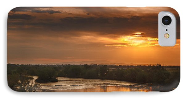 Golden Payette River Phone Case by Robert Bales