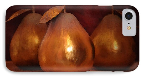 Golden Pears I IPhone Case by April Moen