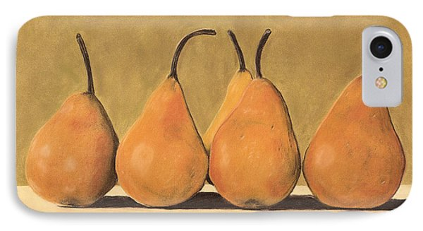IPhone Case featuring the pastel Golden Pears  by Jan Amiss
