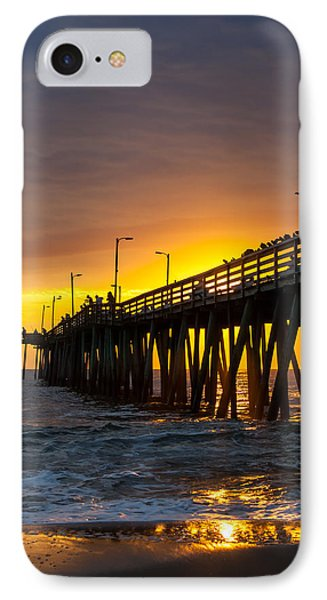 IPhone Case featuring the photograph Golden Pier by Dawn Romine