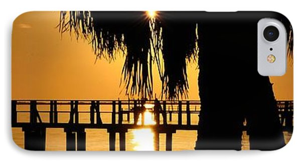 Golden Pier Panorama IPhone Case by Richard Zentner