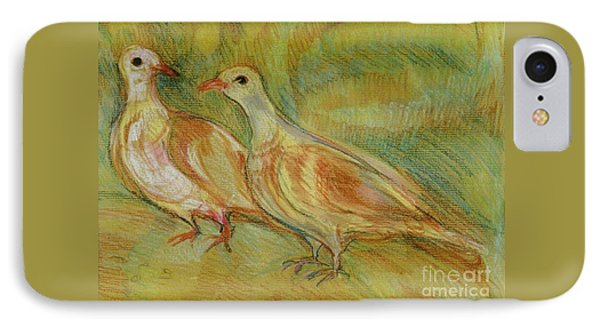 Golden Pigeons IPhone Case by Anna Yurasovsky