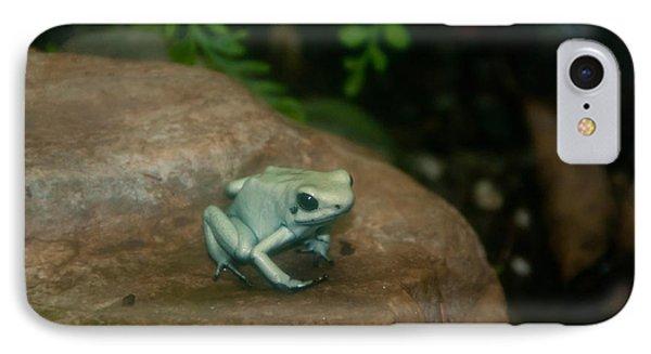 Golden Poison Frog Mint Green Morph Phone Case by Mark Newman