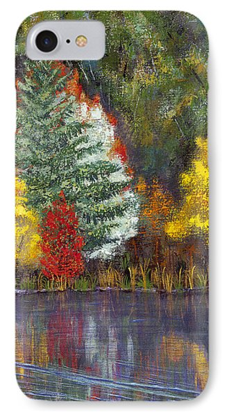 IPhone Case featuring the painting Autumn Tapestry by Margaret Bobb