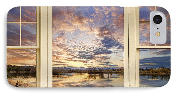 Golden Ponds Scenic Sunset Reflections 4 Yellow Window View Phone Case by James BO  Insogna