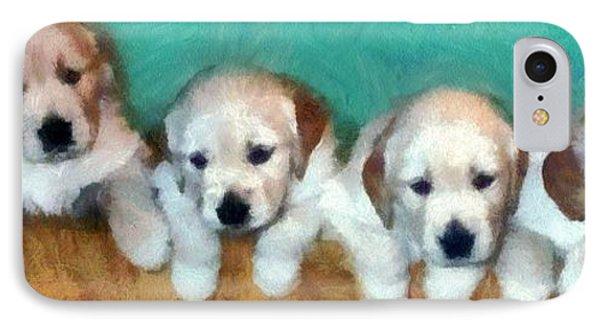 Golden Puppies Phone Case by Michelle Calkins
