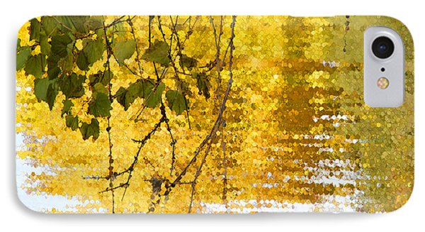 Golden Reflections IPhone Case by Mariarosa Rockefeller