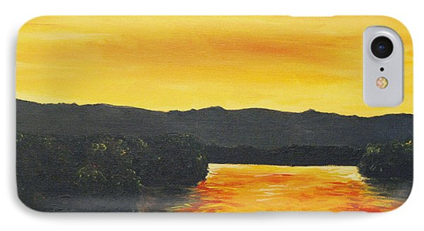 Golden Reflections Phone Case by Monica Veraguth