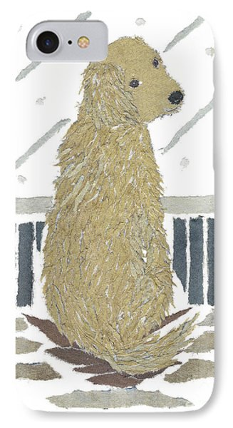 Golden Retriever Art Hand-torn Newspaper Collage Art Phone Case by Keiko Suzuki Bless Hue