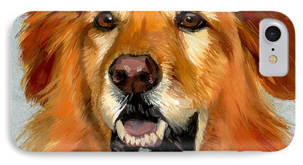 Golden Retriever Dog IPhone Case by Alice Leggett