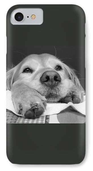 Golden Retriever Dog I See You Phone Case by Jennie Marie Schell
