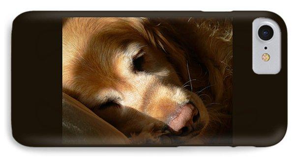 Golden Retriever Dog Quiet Time IPhone Case by Jennie Marie Schell