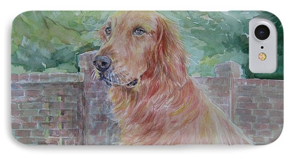 Golden Retriever IPhone Case by Gloria Turner