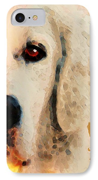 Golden Retriever Half Face By Sharon Cummings IPhone Case by Sharon Cummings