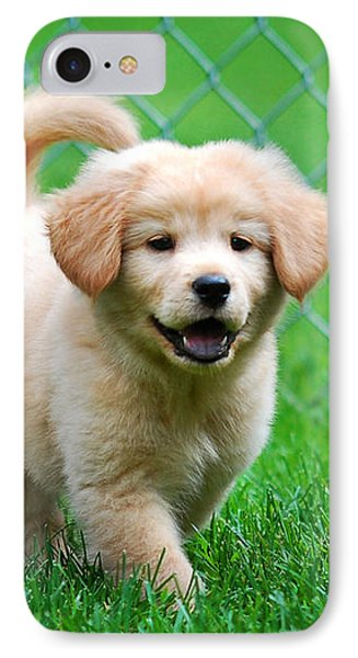 Golden Retriever Puppy Phone Case by Christina Rollo