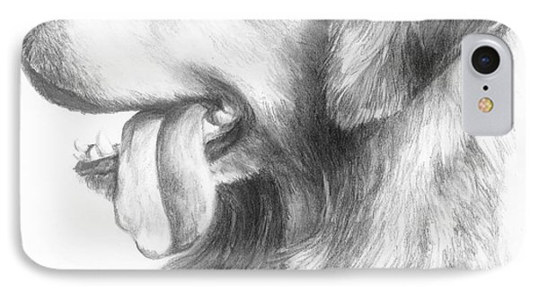 IPhone Case featuring the drawing Golden Retriever Study by Meagan  Visser