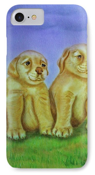 IPhone Case featuring the painting Golden Retriever by Thomas J Herring