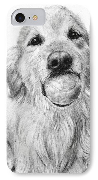 Golden Retriever With Ball IPhone Case