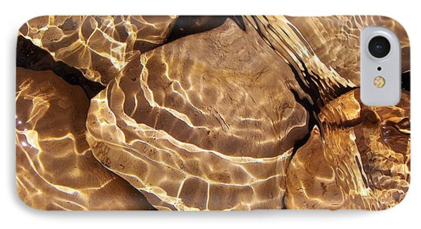 Golden Ripples IPhone Case by Kathi Mirto