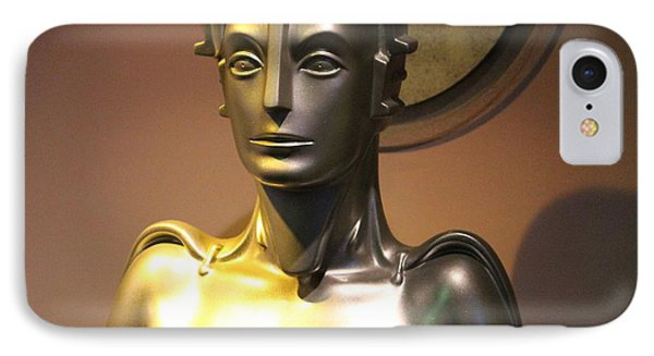 IPhone Case featuring the photograph Golden Robot Lady by Cynthia Snyder