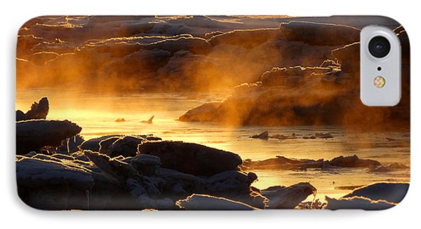 Golden Sea Smoke At Sunrise IPhone Case