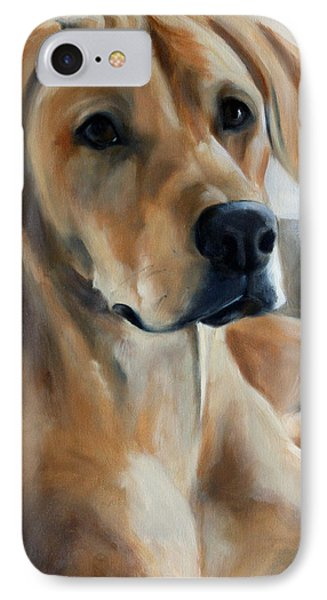 Golden Shadows IPhone Case by Mary Sparrow