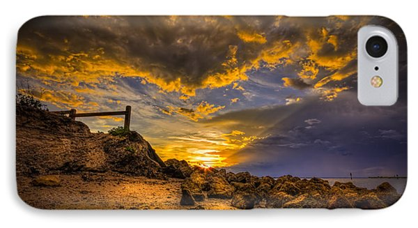 Golden Shore IPhone Case by Marvin Spates