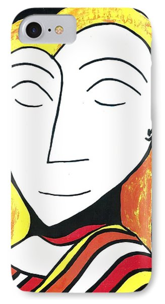 IPhone Case featuring the drawing Golden Silence by Don Koester
