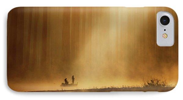 Dawn iPhone 7 Case - Golden Silence by Takashi Suzuki