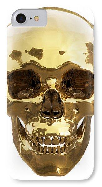 Golden Skull Phone Case by Vitaliy Gladkiy