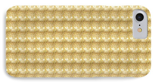 IPhone Case featuring the photograph Golden Sparkle Tone Pattern Unique Graphic V2 by Navin Joshi