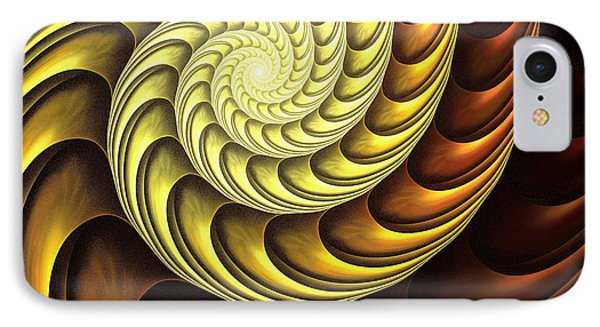 Golden Spiral IPhone Case by Anastasiya Malakhova
