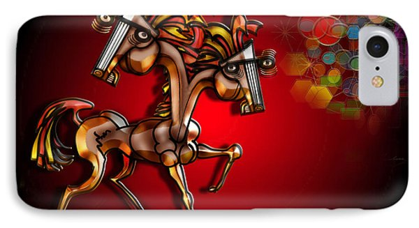 Golden Steed With 2 Heads And An Aura IPhone Case
