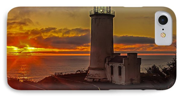 Golden Sunset At North Head Lighthouse IPhone Case by Robert Bales