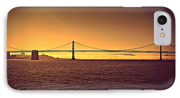 Golden Sunset Bridge IPhone Case