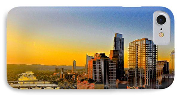 Golden Sunset In Austin Texas Phone Case by Kristina Deane
