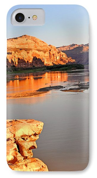 Golden Sunset On The Colorado Phone Case by Marty Koch