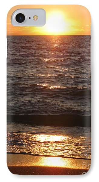 Golden Sunset At Destin Beach IPhone Case by Christiane Schulze Art And Photography