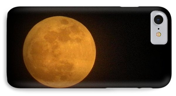 Golden Super Moon IPhone Case by Kathy Barney