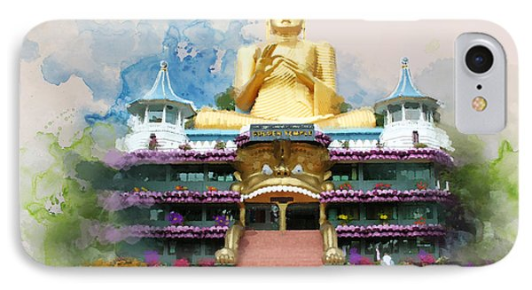 Golden Temple Of Dambulla IPhone Case by Catf