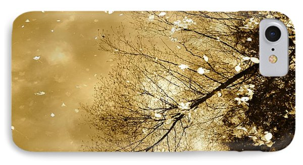 Golden Tones IPhone Case by Corinne Rhode