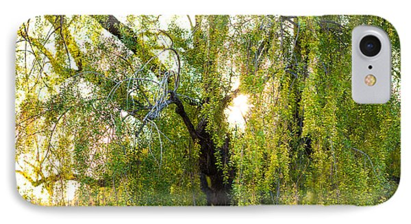 Golden Treelight Phone Case by Mike Lee