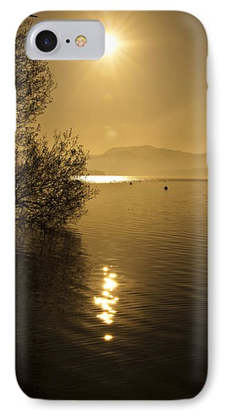 IPhone Case featuring the photograph Golden Ullswater Evening by Meirion Matthias