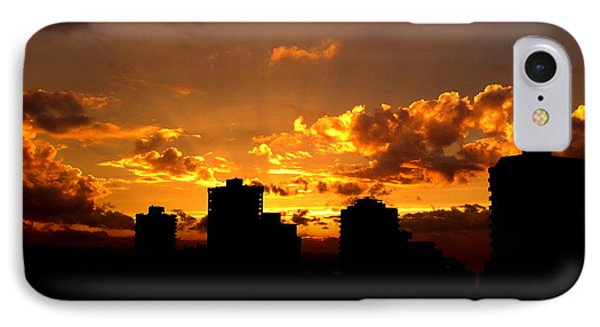 Golden Vancouver Sunset IPhone Case by Brian Chase