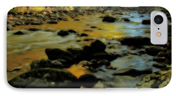 Golden View Of The Little River In Autumn IPhone Case by Dan Sproul
