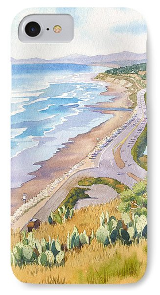 Pacific Ocean iPhone 7 Case - Golden View From Torrey Pines by Mary Helmreich