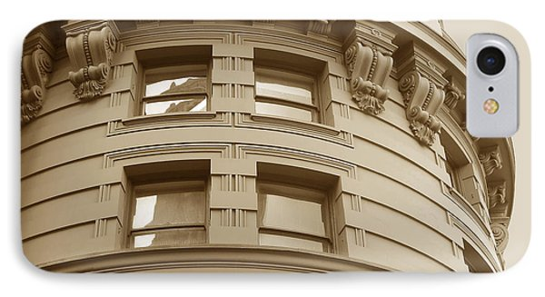 Golden Vintage Building IPhone Case by Connie Fox