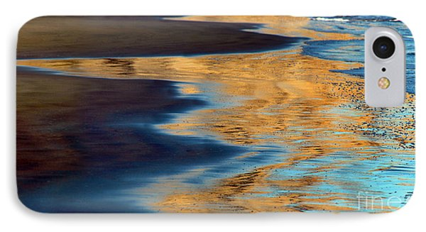 Golden Water Reflections Point Reyes National Seashore IPhone Case by Wernher Krutein