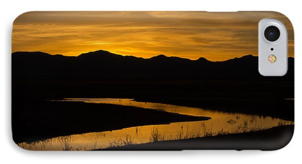 Golden Wetland Sunset IPhone Case by Beverly Parks