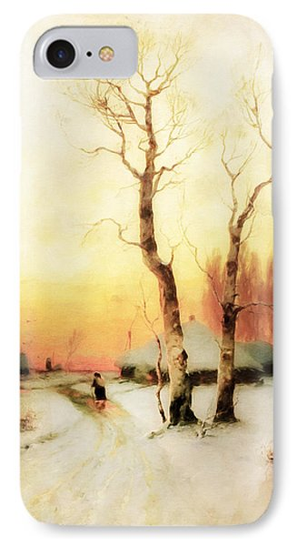 Golden Winter Of Forgotten Dreams IPhone Case by Georgiana Romanovna